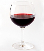 Retirement healthy eating red wine