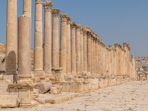 Retirement travel to Jerash Jordan