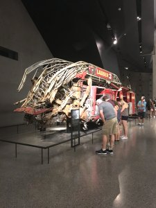 Firetruck at the 9/11 museum